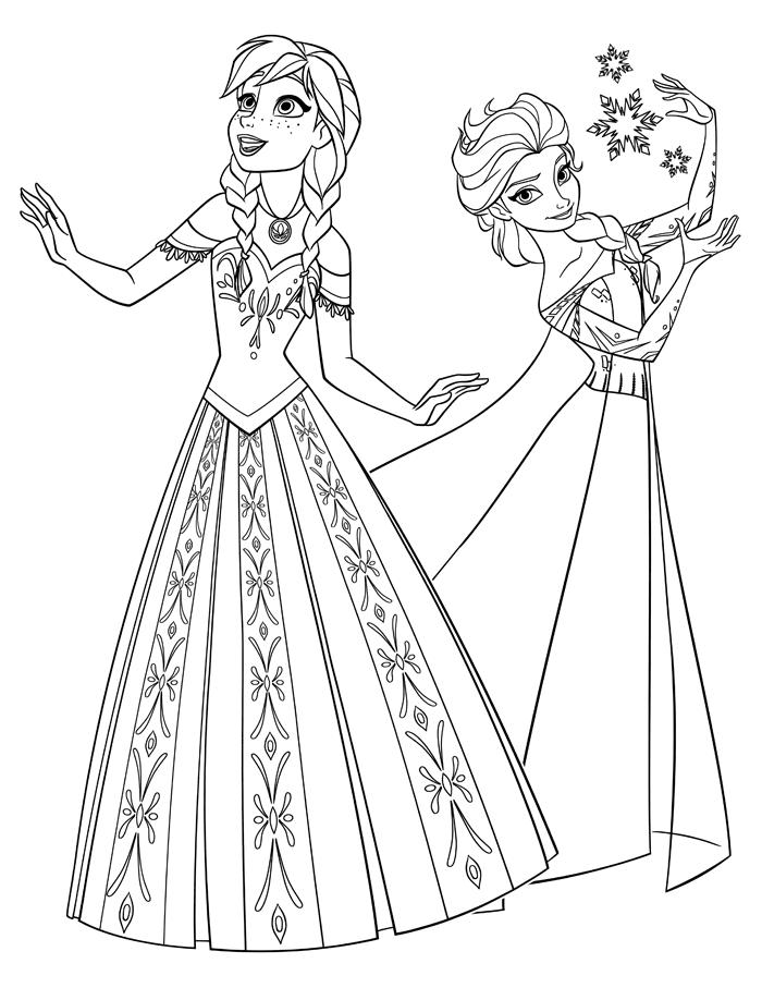Coloriages Gratuits Et A Imprimer La Reine Des Neiges De Disney