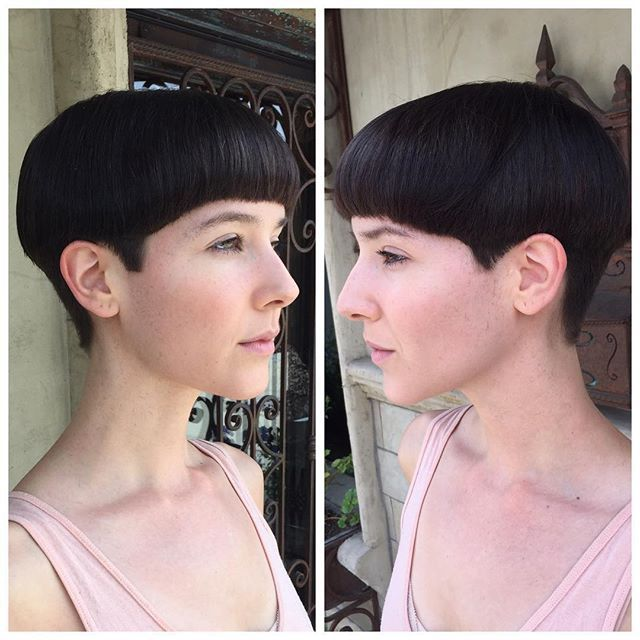 #bowlcut on Instagram | Sexy Bowlcuts | Short wedge ...