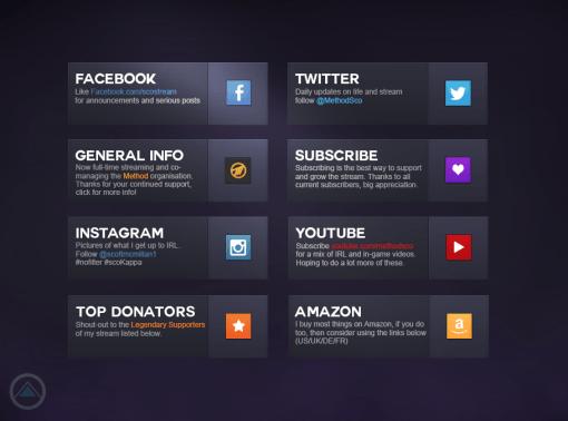 Twitch bio buttons for Method Sco | Designs | Banner design, Twitter