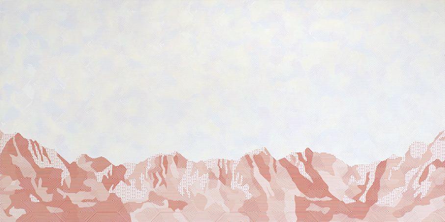 Stéphane Kropf acryl on canvas Mountain Paintings