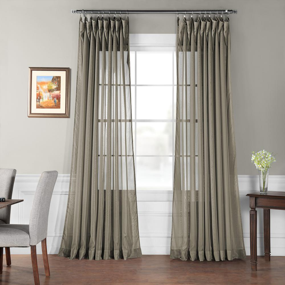 Exclusive Fabrics Furnishings Signature Double Wide Museum Grey