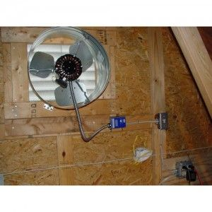 Gable attic fan DIY Pinterest Attic fan Attic and Fans