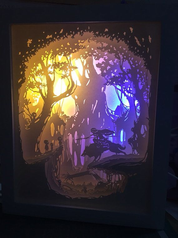 Paper cut light box lightbox night light accent lamp ...