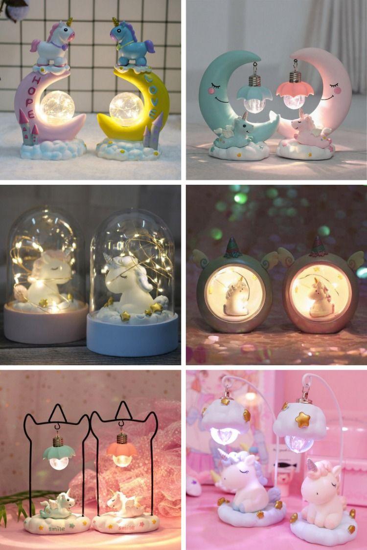 Unicorn Lamp Led Night Light Unilovers Unicorn Lamp Unicorn Room Decor Cute Night Lights