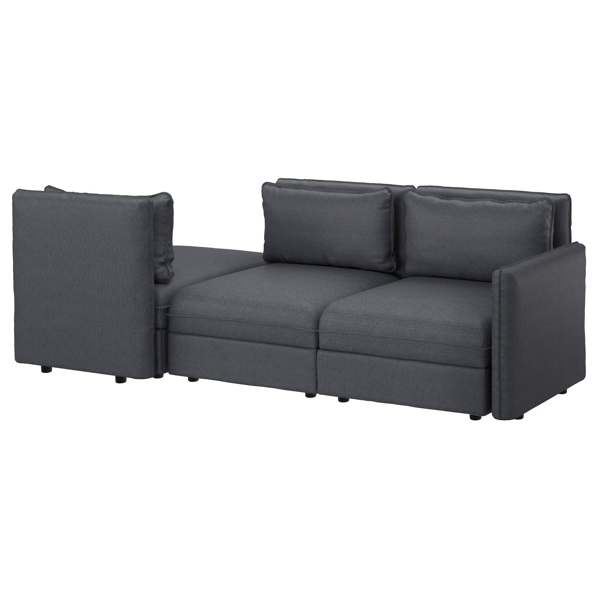 Vallentuna Sleeper Sectional, 3 Seat  Hillared Dark Gray  Ikea