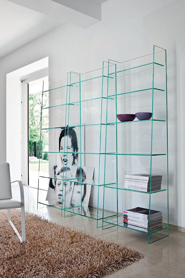 Freestanding glass bookcase OLYMPIA by @sovetitalia | F O R • T H E ...