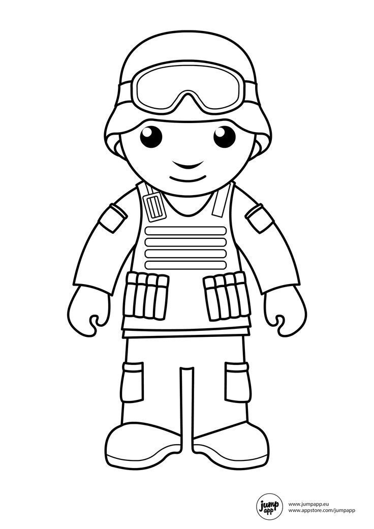 Soldier printable coloring pages