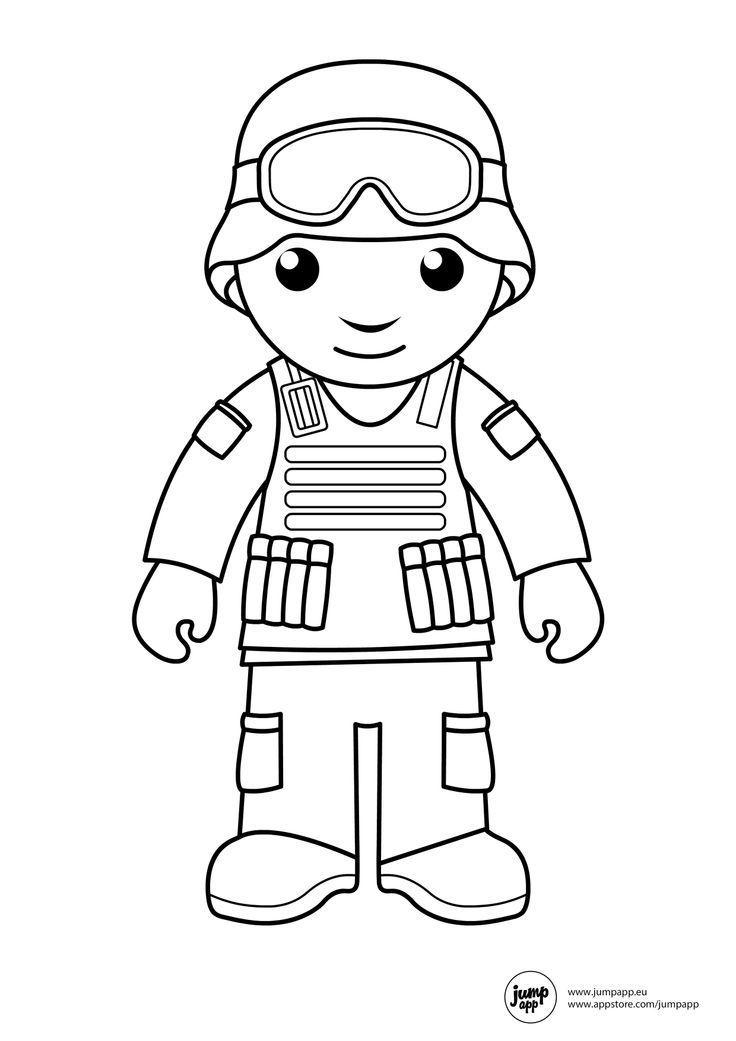 soldier Printable Coloring Pages pekerjaan dan alat yg