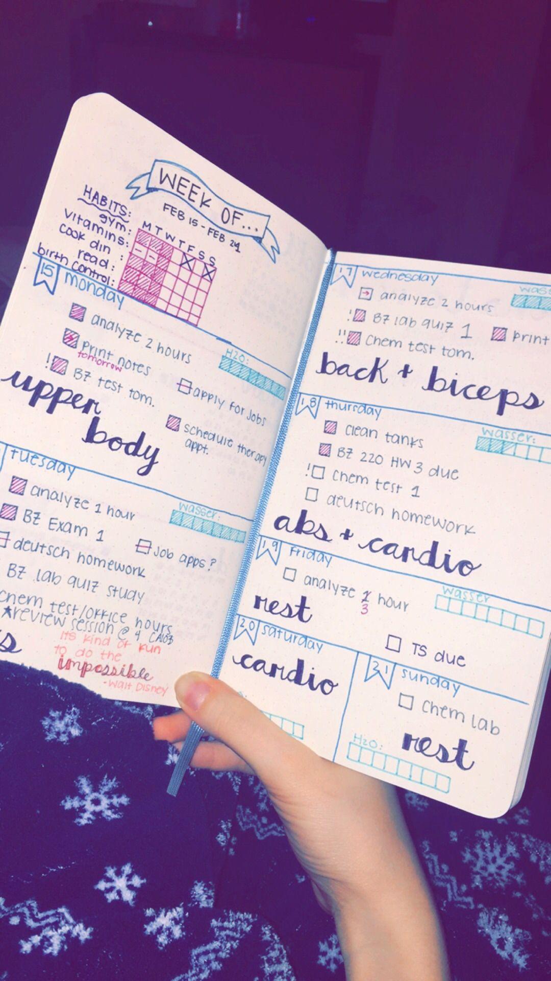 bullet journal -   23 fitness journal shape ideas