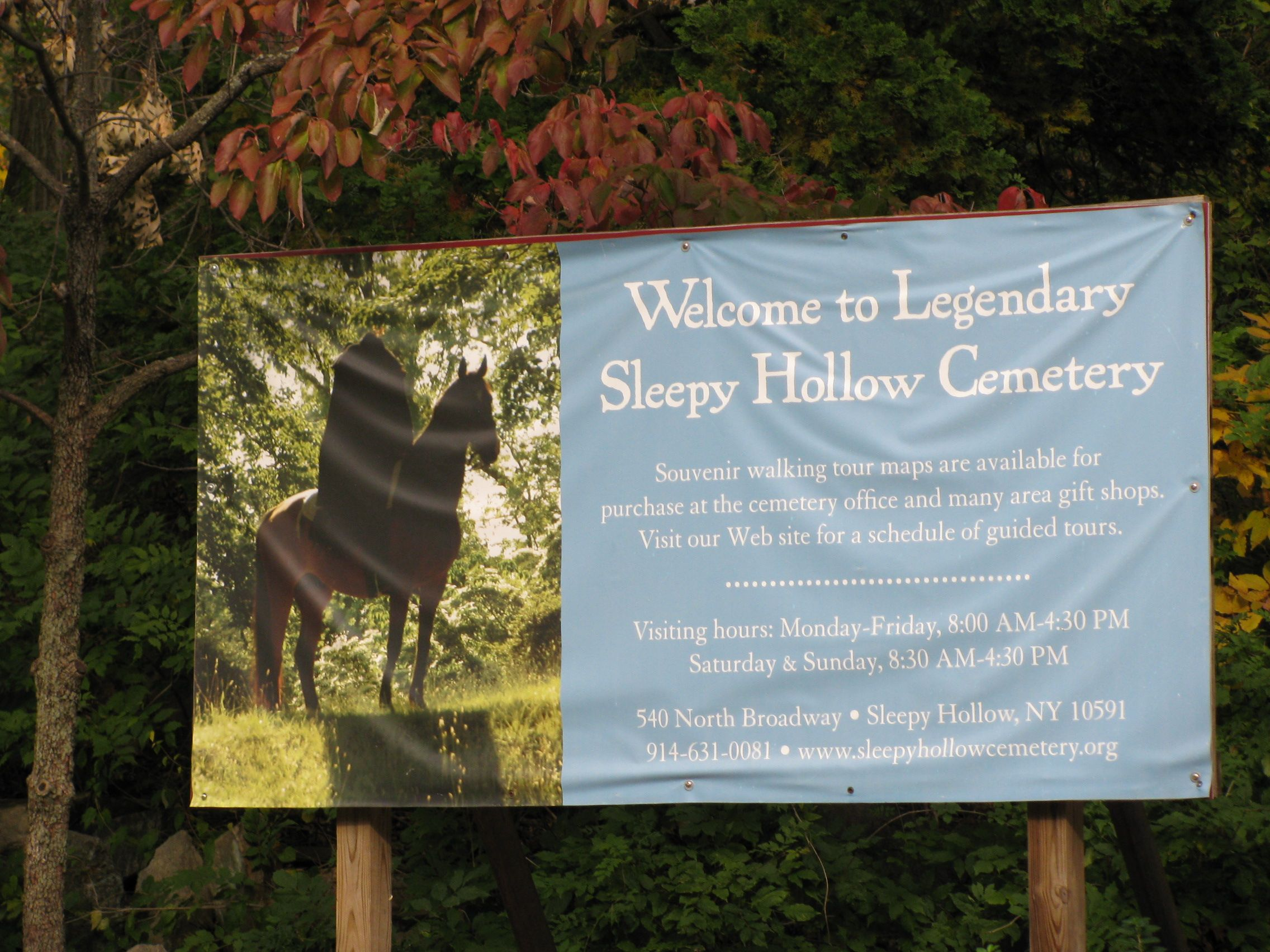 Sleepy Hollow Cemetery tours...a must have if you are going to visit Sleepy Hollow.