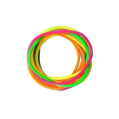 Neon  gummy bangles 12 #bands jelly wrist#bands #bracelets 80's  #fancy dress girl,  View more on the LINK: http://www.zeppy.io/product/gb/2/252393394755/