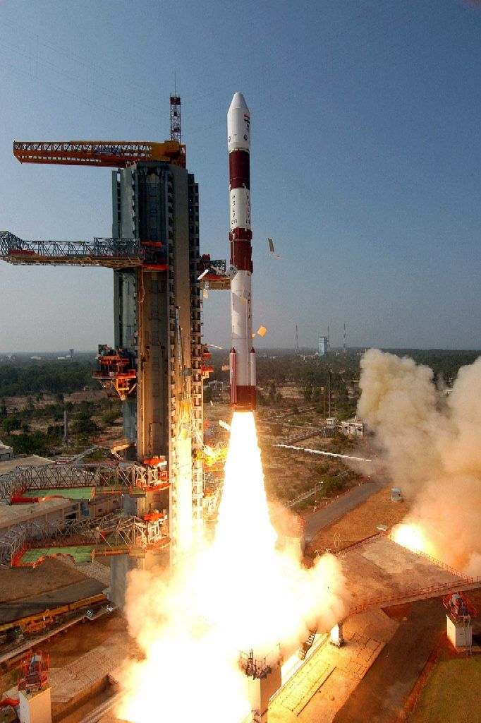 PSLV-C8 (CA Variant) carrying the AGILE x-ray and γ-ray astronomical satellite of the ASI lifting off from Sriharikota