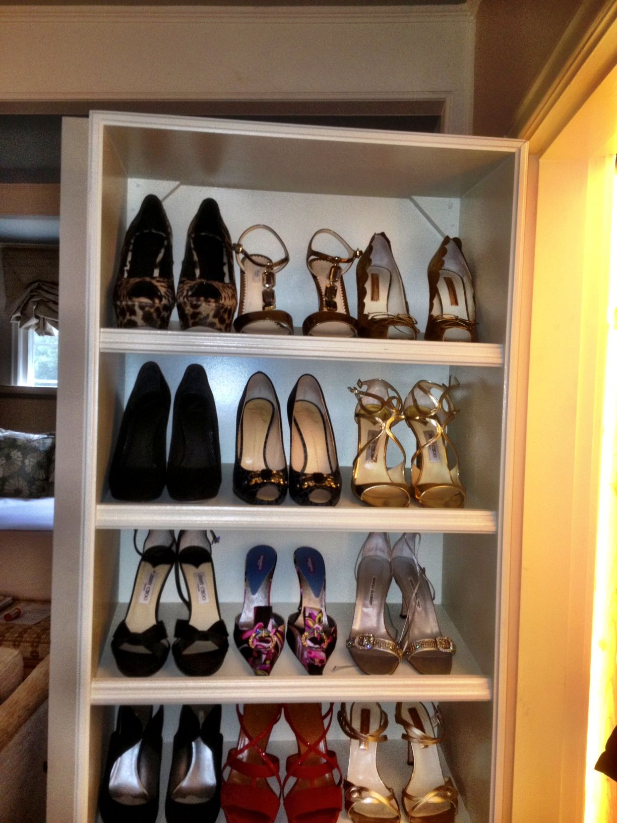 Great Shoe Rack On The Back Of A Door   Perfect For Small Closets With  Limited Storage.