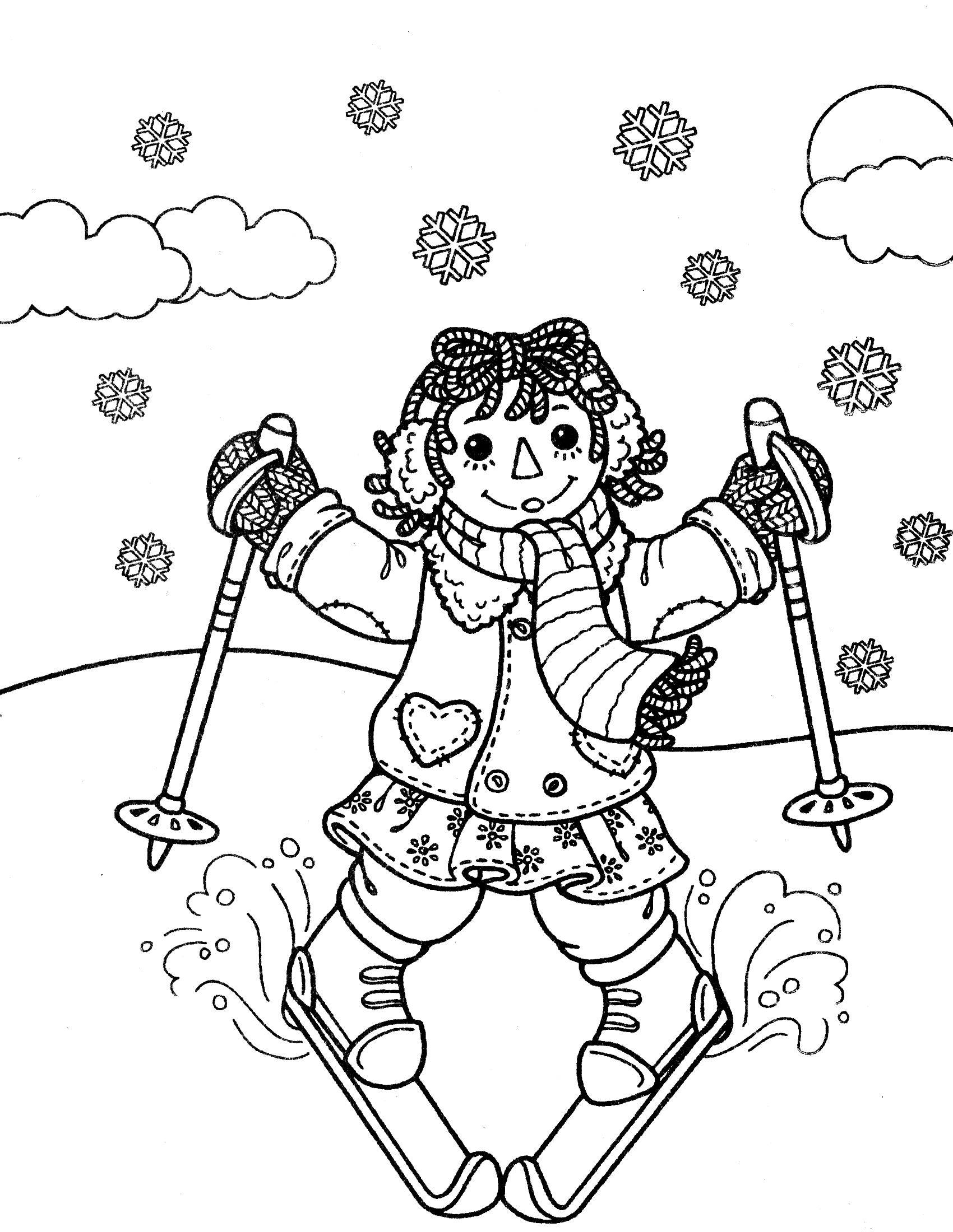 raggedy ann andy coloring page lots of different pages to