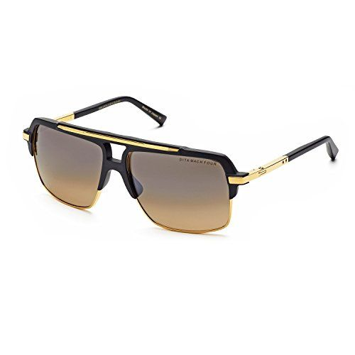 28855352b5b3 Dita Mach Four 4 Sunglasses DRX 2070A Black Matte Black 18K Gold Dark Brown  w Black Flash Gradient Polarized 61 mm    Be sure to check out this awesome  ...
