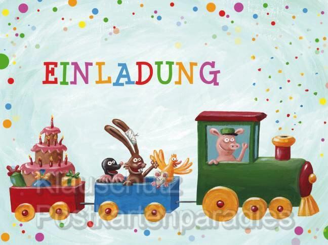 kindergeburtstag einladungen zum ausdrucken kostenlos, Einladung