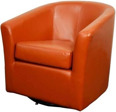 Superbe Orange Leather Swivel Chairs | Chairs | Pinterest | Leather Swivel Chair  And Swivel Chair