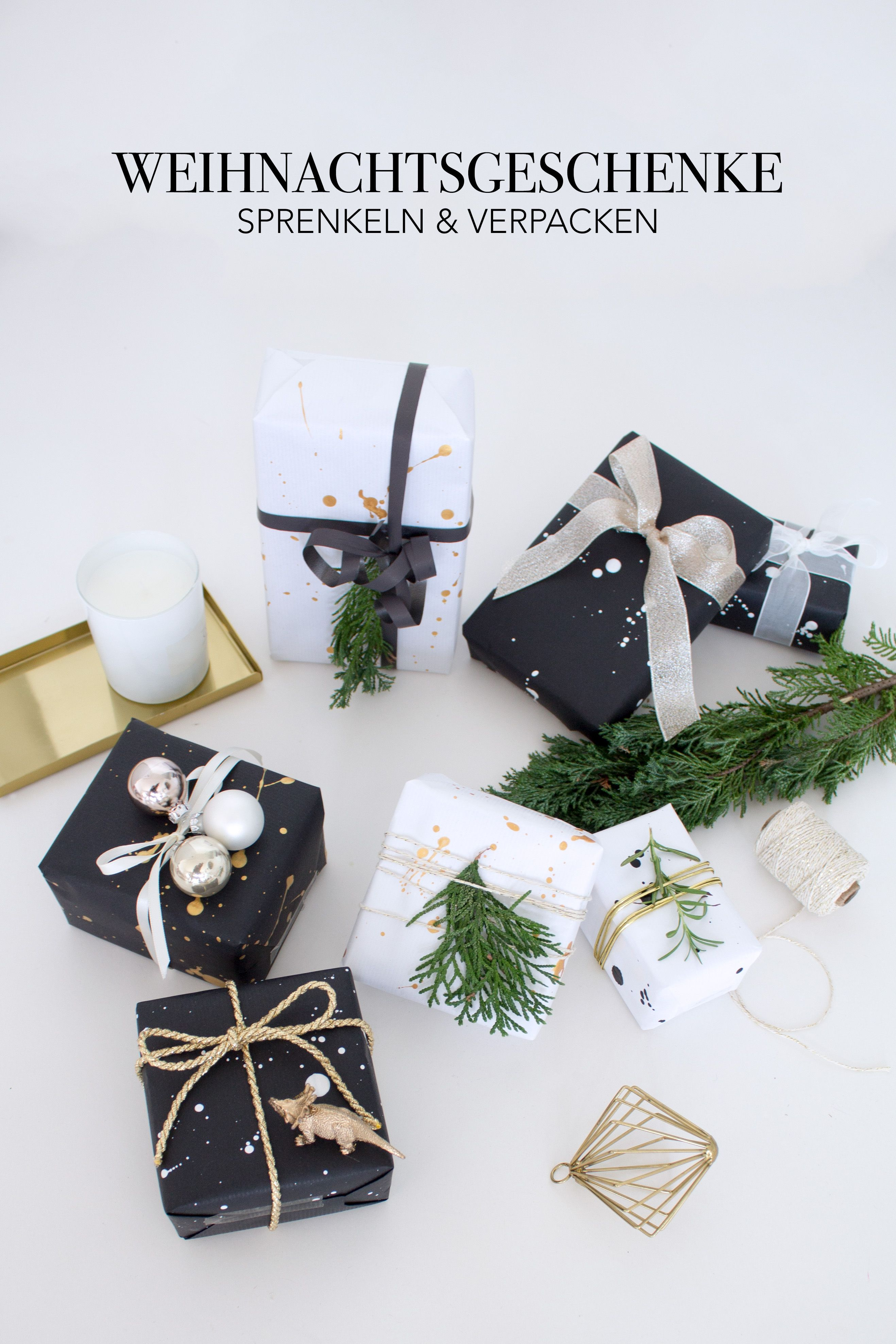 weiss gold geschenkverpackung weihnachten gift wrapping pinterest diy blog. Black Bedroom Furniture Sets. Home Design Ideas