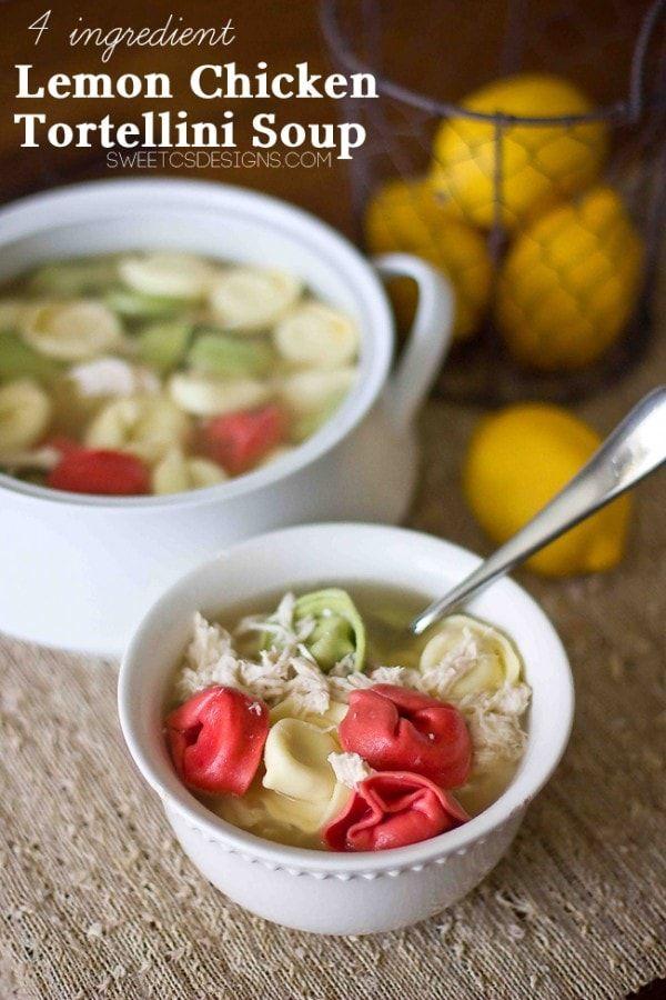 Lemon Chicken Tortellini Soup- this is the best recipe ...