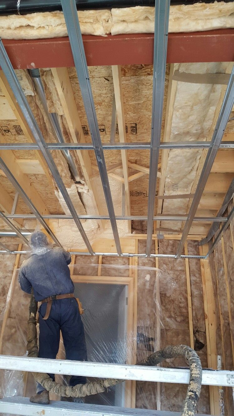 New Construction Garage Ceiling Spray Foam Insulation System