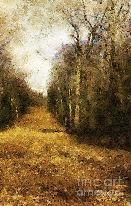 Title  The Allee At Dawn  Artist  RC deWinter  Medium  Painting - Digital Oils