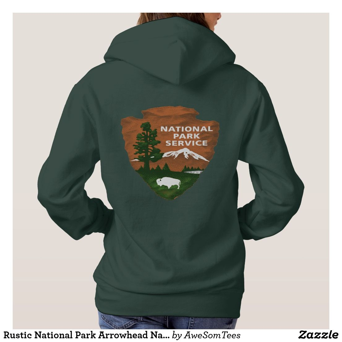 Rustic National Park Arrowhead Nature Hoodie Camping