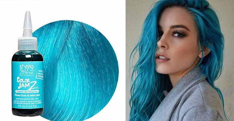 Turquoise Hair Dye Color Is It Permanent Blue Dark Tips On How To Use Turquoise Hair Hair Dye Colors Turquoise Hair Dye