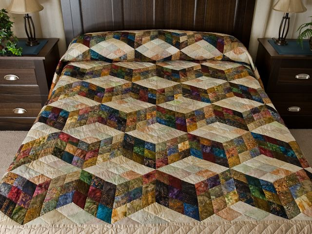 Amish Country Quilts From Lancaster Tumbling Blocks 9