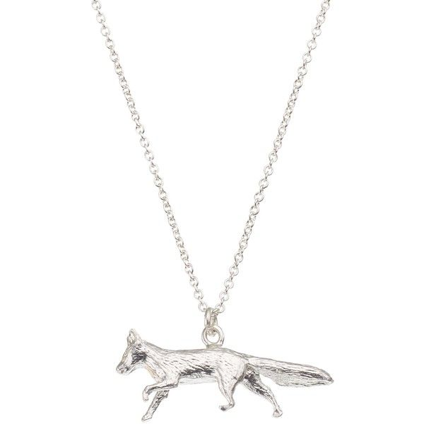 Alex Monroe Sterling Silver Fox Pendant, Silver (9.085 RUB) ❤ liked on Polyvore featuring jewelry, pendants, necklaces, charm pendant, sterling silver jewelry, silver chain jewelry, pendant jewelry and silver jewellery