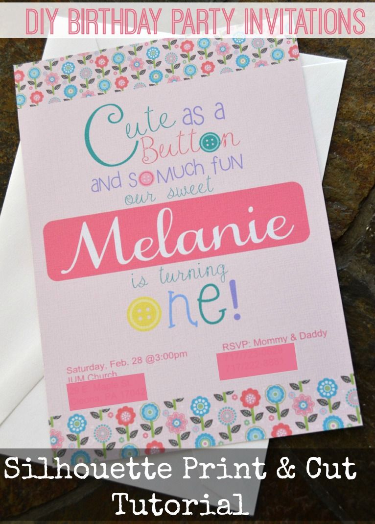 See How To Use The Silhouette Print Amp Cut Feature Make Personalized Birthday Party