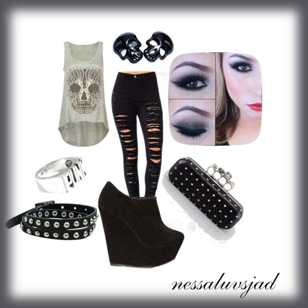 creative cute punk outfit