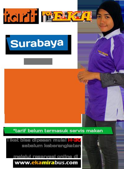 Tarif Bus Eka Patas Surabaya Semarang Solo Yogya Jadwal