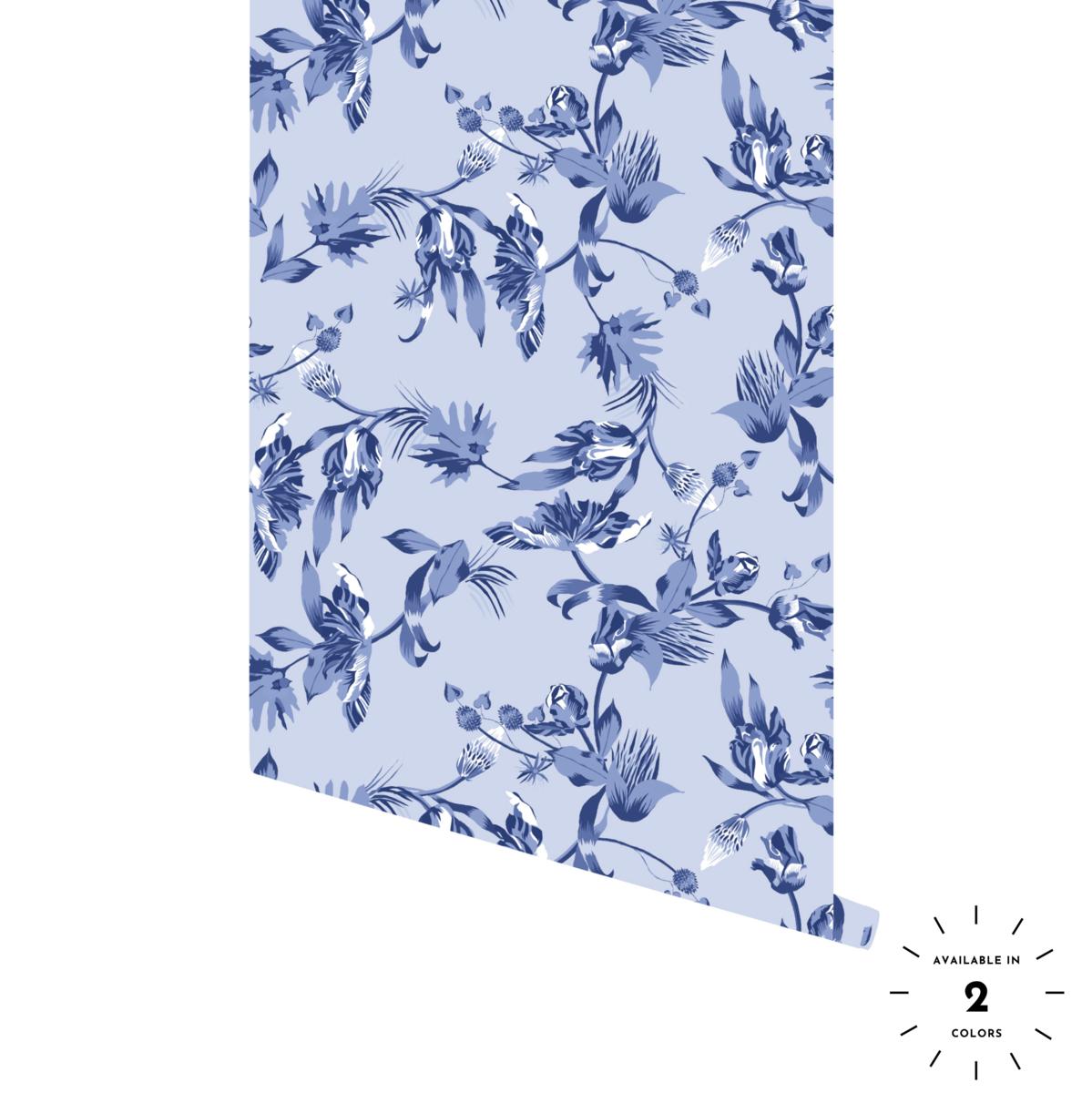 Montespan Floral Pattern Wallpaper Peel Stick Wallpaper