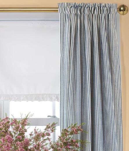 Ticking Stripes Rod Pocket Curtains