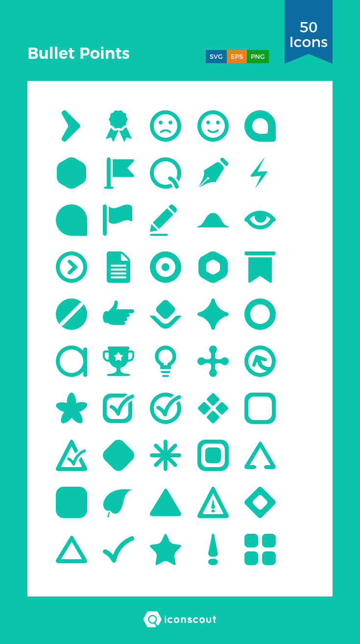 Download Bullet Points Icon Pack Available In Svg Png Eps Ai Icon Fonts Icon Pack Icon Font Icon