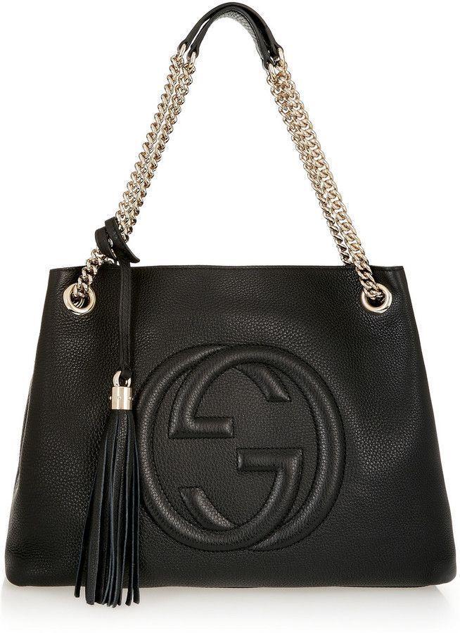 55fdedc0113 Gucci Soho Leather Medium Chain-Strap Tote