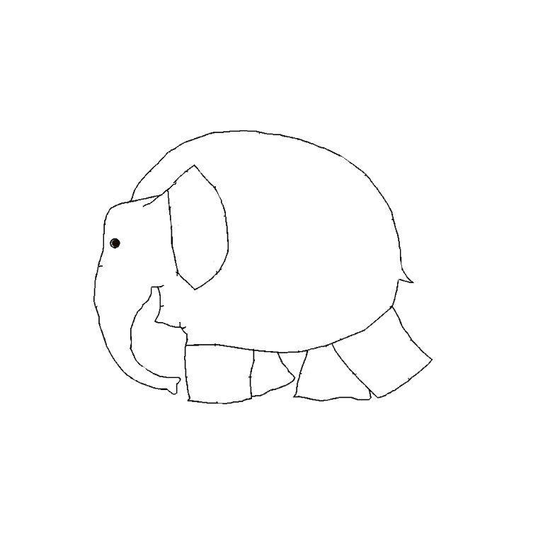 Coloriage elmer l 39 el phant projets essayer pinterest - Elephant a colorier ...