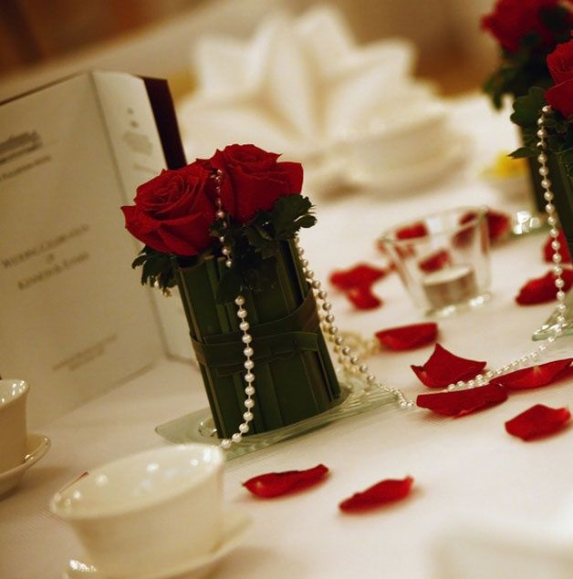 Rose And Pearl Wedding Decorations