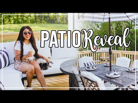 Patio Reveal + Outdoor Entertaining Tips! #HouseToHome - YouTube