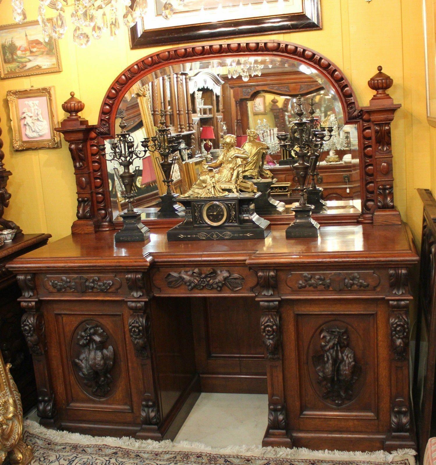 Best French Antique Rosewood Hunt Scene Sideboard Server 400 x 300