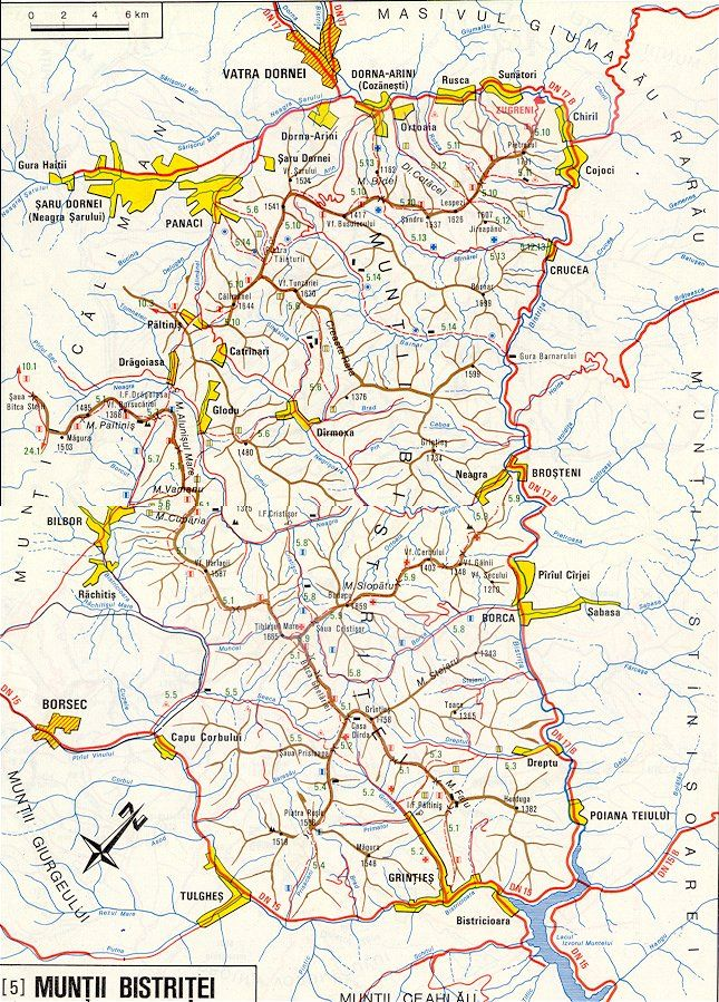 Harta Muntilor Bistritei Harti Detaliate Poteci Trasee Montane