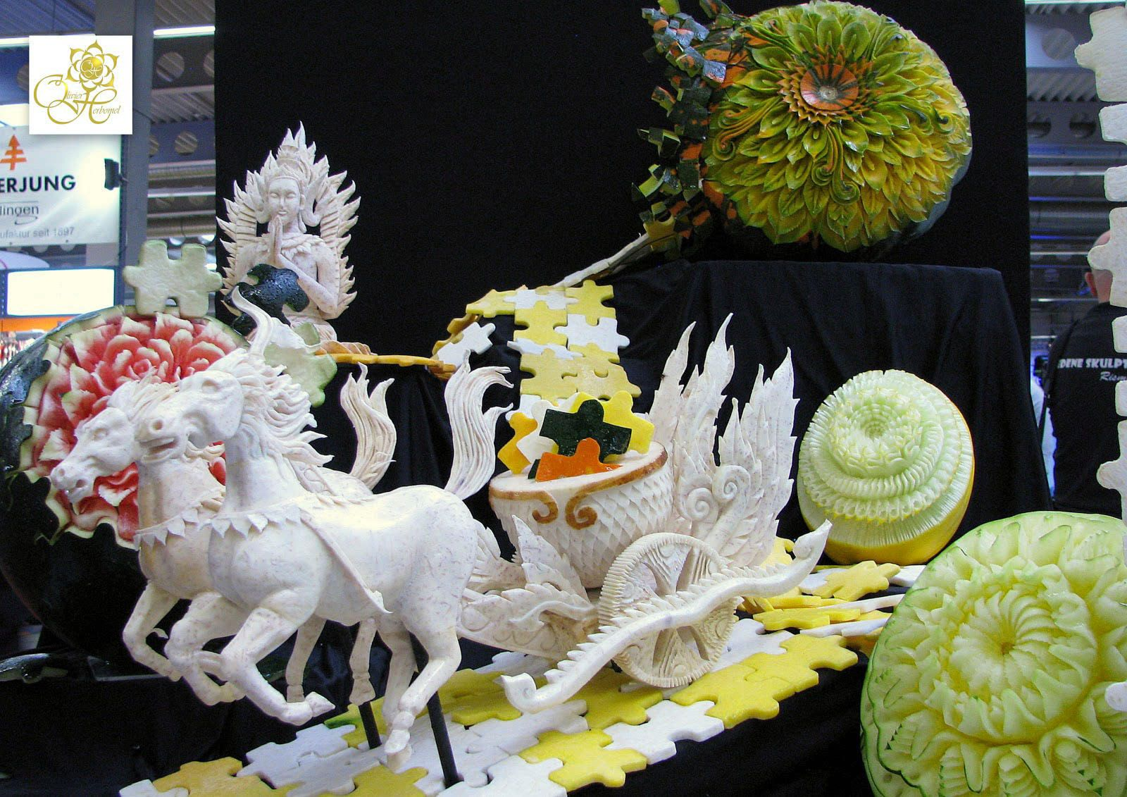Fantastic carving of a horse carriage food carving pinterest