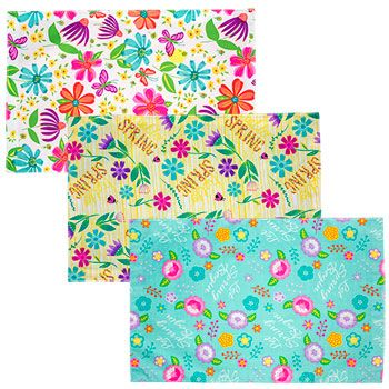 Line cabinets and frig with thses lightweight and easy to clean placemats with lovely spring-themed patterns and colors are a lovely addition to any table setting — indoors or out! With bright floral patterns, they are the perfect compliment to our spring fling kitchen accessories. Great for barbecues, picnics, dinner parties, and more.