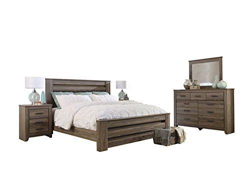 Best Ashley Zelen 5Pc Queen Panel Bedroom Set With Two 400 x 300