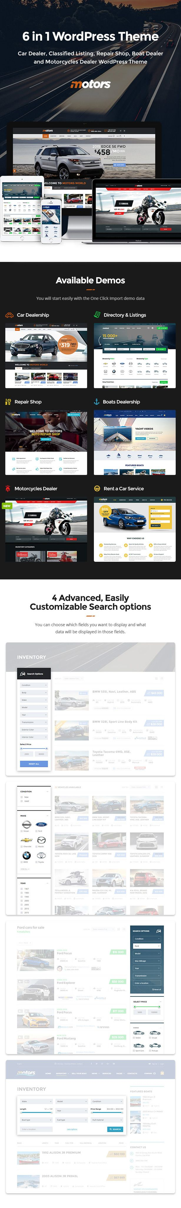 Motors - Automotive, Car Dealership, Car Rental, Vehicle, Bikes ...