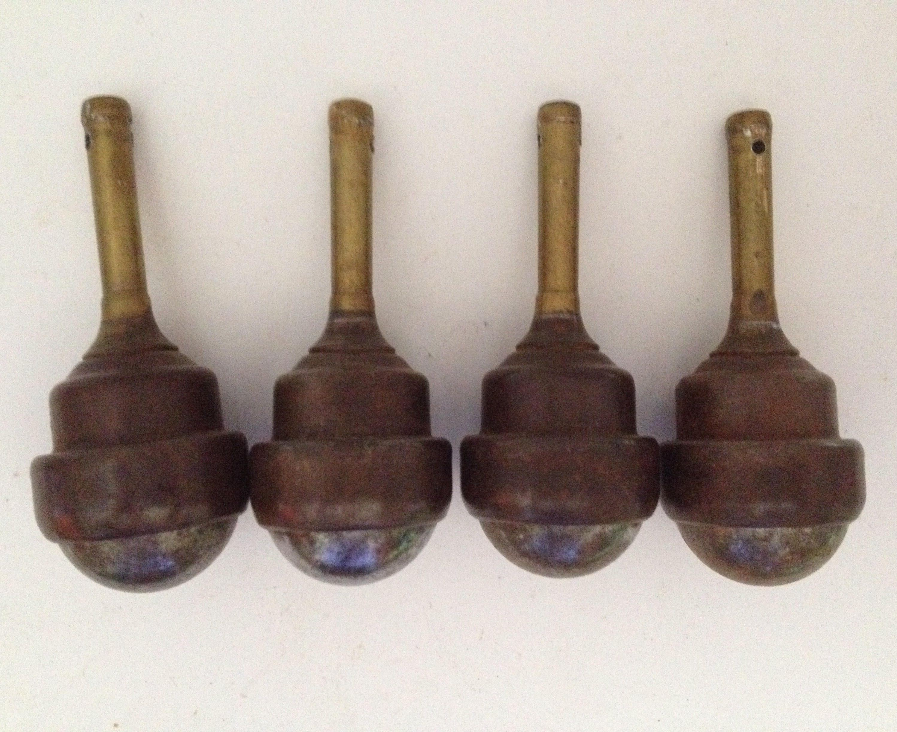 Ball Casters Vintage 1 1 2 Inch Stem Caster Wheels Set of 4