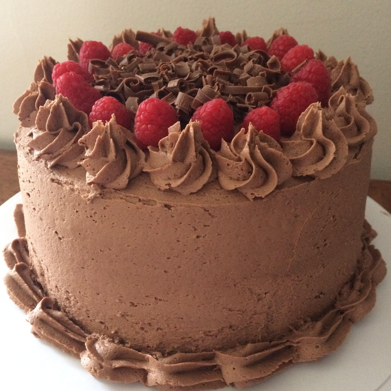 Chocolate cake w/ chocolate buttercream frosting ...