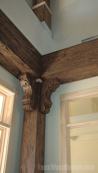 Pecky Cypress Beams Maybe Do This But Limewash Them If I