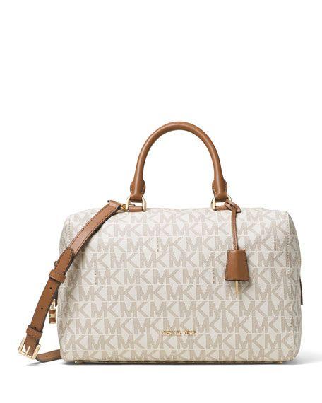 Explore Satchel Purse, Satchel Handbags, and more! MICHAEL Michael Kors  Kirby Large Logo Satchel Bag, Vanilla