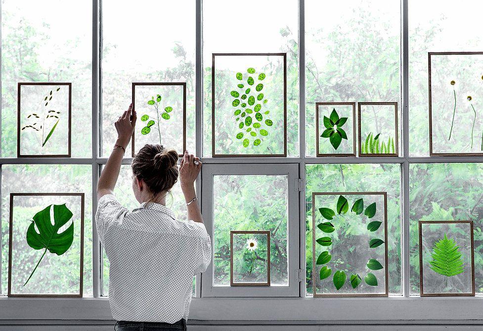 Scandinavian design: Oak and acrylic glass frames by Danish brand Moebe.